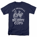 Andy Griffith t-shirt Buddy Cops mens navy