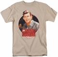 Andy Griffith t-shirt Circle Of Trust mens sand