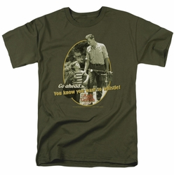 Andy Griffith t-shirt Gone Fishing mens military green