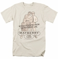 Andy Griffith t-shirt Mayberry Jail mens cream