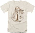 Andy Griffith t-shirt No Jerk mens cream