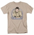 Andy Griffith t-shirt Thanks For The Memories mens sand