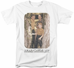 Andy Griffith t-shirt Tree Photo mens white