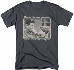 Andy Griffith t-shirt Wise Words mens charcoal