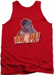 Andy Griffith tank top Aw Pa mens red
