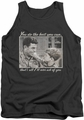 Andy Griffith tank top Wise Words mens charcoal