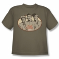 Andy Griffith youth teen t-shirt 3 Funny Guys safari green