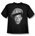 Andy Griffith youth teen t-shirt Barney Head black