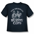 Andy Griffith youth teen t-shirt Buddy Cops navy