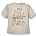 Andy Griffith youth teen t-shirt Mayberry Jail cream