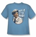 Andy Griffith youth teen t-shirt Nip It carolina blue