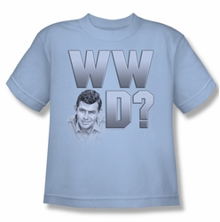 Andy Griffith youth teen t-shirt WWAD light blue