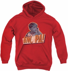 Andy Griffith youth teen hoodie Aw Pa red