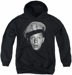 Andy Griffith youth teen hoodie Barney Head black