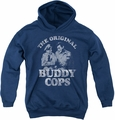 Andy Griffith youth teen hoodie Buddy Cops navy