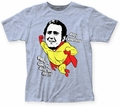 Andy Kaufman Mighty Kaufman fitted jersey tee heather light blue mens pre-order