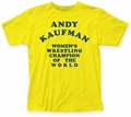 Andy Kaufman Women's Wrestling Champ fitted jersey tee yellow womens pre-order