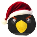 Angry Birds Christmas Hat 5 Inch Mini Plush Figure Black