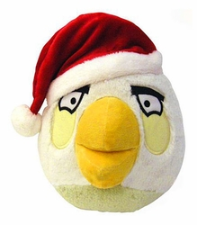 Angry Birds Christmas Hat 5 Inch Mini Plush Figure White