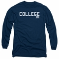 Animal House adult long-sleeved shirt College navy