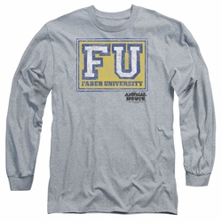 Animal House adult long-sleeved shirt Faber University heather
