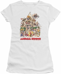 Animal House juniors t-shirt Poster Art white
