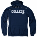 Animal House pull-over hoodie College adult navy