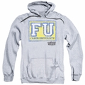 Animal House pull-over hoodie Faber University adult athletic heather