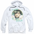 Animal House pull-over hoodie Toga adult white