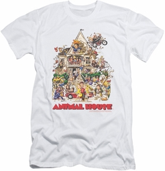Animal House slim-fit t-shirt Poster Art mens white