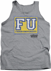 Animal House tank top Faber University mens heather