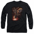Anne Stokes adult long-sleeved shirt Hellrider black