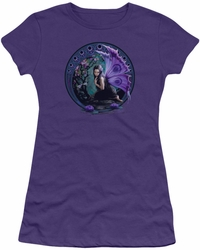 Anne Stokes juniors t-shirt Naiad purple