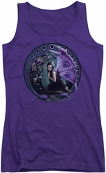 Anne Stokes juniors tank top Naiad purple