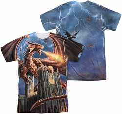 Anne Stokes mens full sublimation t-shirt Dragon's Fury