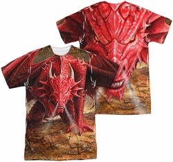 Anne Stokes mens full sublimation t-shirt Dragon's Lair