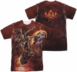 Anne Stokes mens full sublimation t-shirt Hellrider