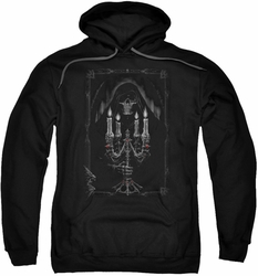 Anne Stokes pull-over hoodie Candelabra adult black