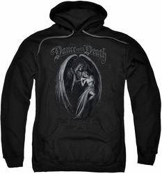 Anne Stokes pull-over hoodie Dance With Death adult black