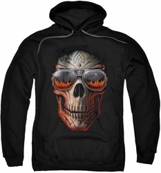 Anne Stokes pull-over hoodie Hellfire adult black