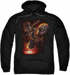 Anne Stokes pull-over hoodie Hellrider adult black