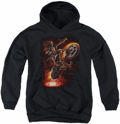 Anne Stokes youth teen hoodie Hellrider black