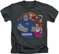 Apokolips kids t-shirt DC Comics charcoal