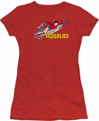 Aqualad juniors t-shirt DC Comics red