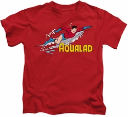 Aqualad kids t-shirt DC Comics red