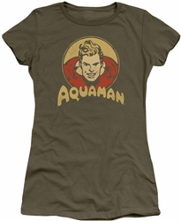 Aquaman juniors t-shirt Aqua Circle military green