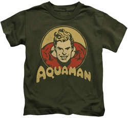 Aquaman kids t-shirt Aqua Circle military green
