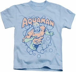 Aquaman kids t-shirt Bubbles light blue