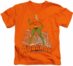 Aquaman kids t-shirt Distressed orange