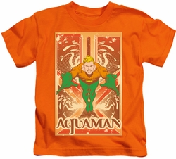 Aquaman kids t-shirt Event orange